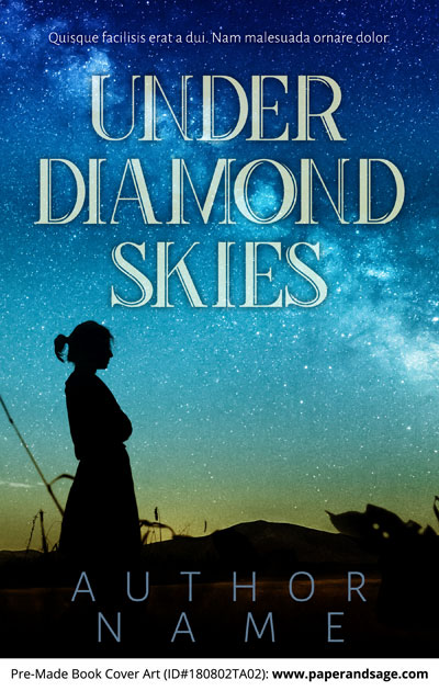 Pre-Made Book Cover ID#180802TA02 (Under Diamond Skies)