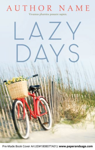 Pre-Made Book Cover ID#180807TA01 (Lazy Days)