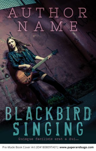 Pre-Made Book Cover ID#180809TA01 (Blackbird Singing)