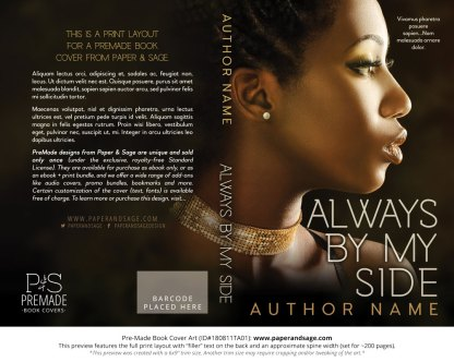 Print layout for Pre-Made Book Cover ID#180811TA01 (Always By My Side)