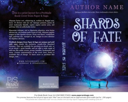 Print layout for Pre-Made Book Cover ID#180812TA02 (Shards of Fate)