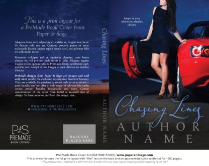 Print layout for Pre-Made Book Cover ID#180815TA01 (Chasing Lines)