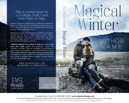 Print Layout for Pre-Made Book Cover ID#180819TA01 (Magical Winter)