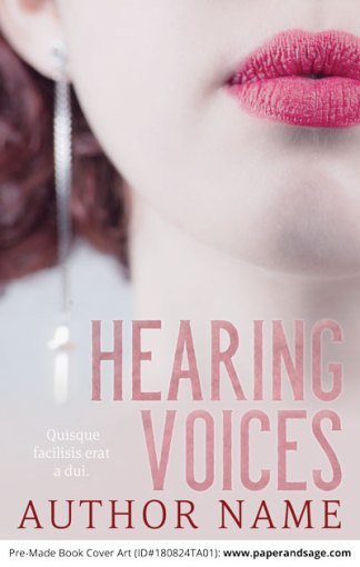 Pre-Made Book Cover ID#180824TA01 (Hearing Voices)