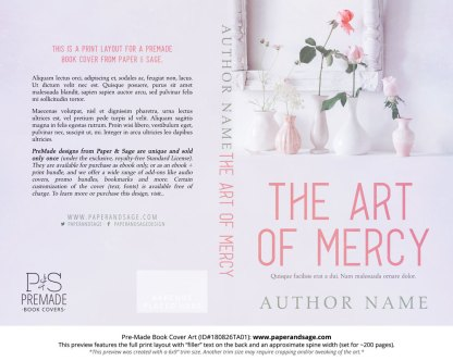 Print layout for Pre-Made Book Cover ID#180826TA01 (The Art of Mercy)