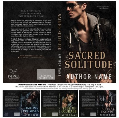 Print layout for PreMade Series Covers ID#092018SA01 (Fighting Promises Series, Only Sold as a Set)