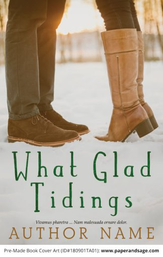 Pre-Made Book Cover ID#180901TA01 (What Glad Tidings)