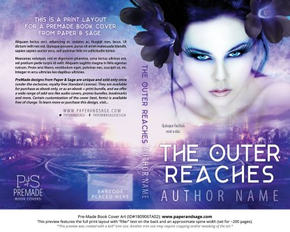 Print layout for Pre-Made Book Cover ID#180906TA02 (The Outer Reaches)