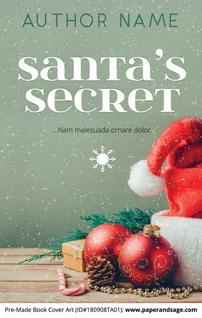 Pre-Made Book Cover ID#180908TA01 (Santa's Secret)