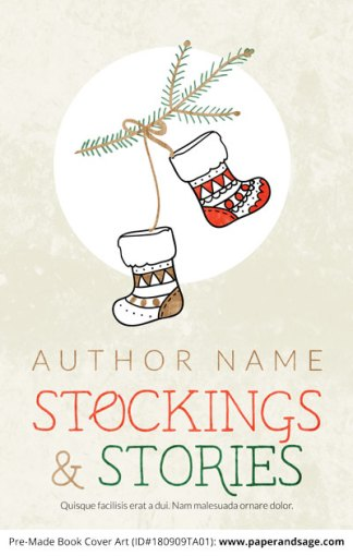 Pre-Made Book Cover ID#180909TA01 (Stockings & Stories)