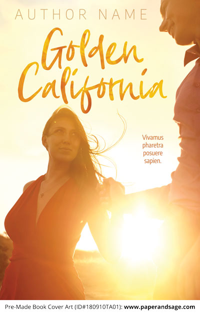 Pre-Made Book Cover ID#180910TA01 (Golden California)