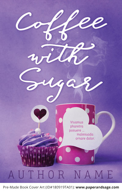 Pre-Made Book Cover ID#180919TA01 (Coffee with Sugar)