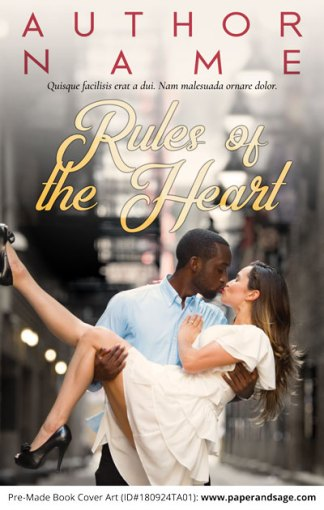 Pre-Made Book Cover ID#180924TA01 (Rules of the Heart)