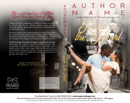 Print layout for Pre-Made Book Cover ID#180924TA01 (Rules of the Heart)