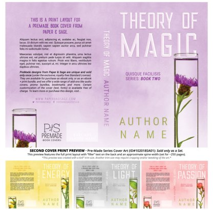Print layout for PreMade Series Covers ID#102018SA01 (Theory Series, Only Sold as a Set)
