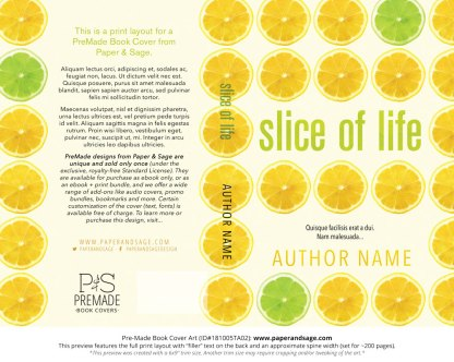 Print layout for Pre-Made Book Cover ID#181005TA02 (Slice of Life)