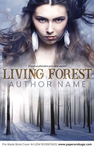Pre-Made Book Cover ID#181006TA02 (Living Forest)