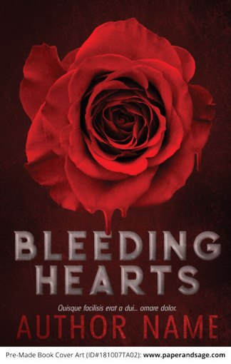 Pre-Made Book Cover ID#181007TA02 (Bleeding Hearts)