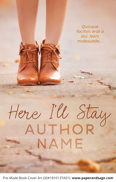 Pre-Made Book Cover ID#181013TA01 (Here I'll Stay)