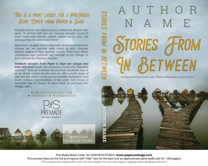 Print layout for Pre-Made Book Cover ID#181015TA01 (Stories from In Between)