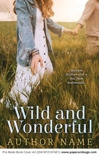 Pre-Made Book Cover ID#181016TA01 (Wild and Wonderful)