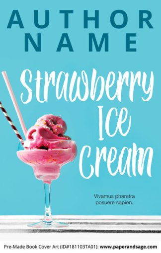 Pre-Made Book Cover ID#181103TA01 (Strawberry Ice Cream)