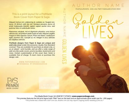 Print layout for Pre-Made Book Cover ID#181112TA01 (Golden Lives)
