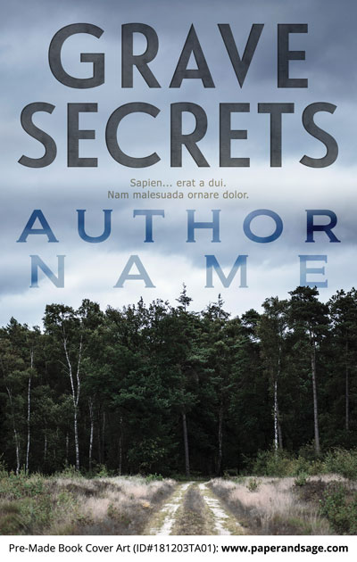 Pre-Made Book Cover ID#181203TA01 (Grave Secrets)