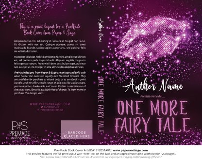 Print layout for Pre-Made Book Cover ID#181205TA01 (One More Fairy Tale)
