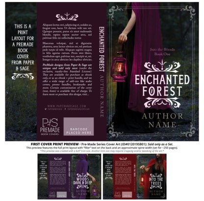 Print layout for PreMade Series Covers ID#012019SB01 (Into the Woods, Only Sold as a Set)