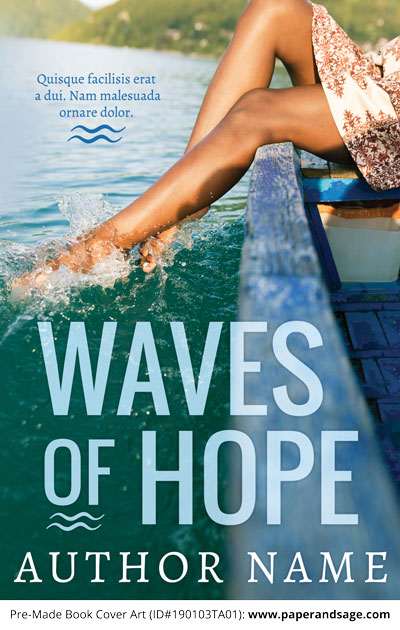 Pre-Made Book Cover ID#190103TA01 (Waves of Hope)
