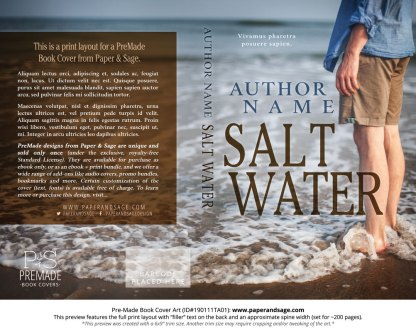 Print layout for Pre-Made Book Cover ID#190111TA01 (Salt Water)