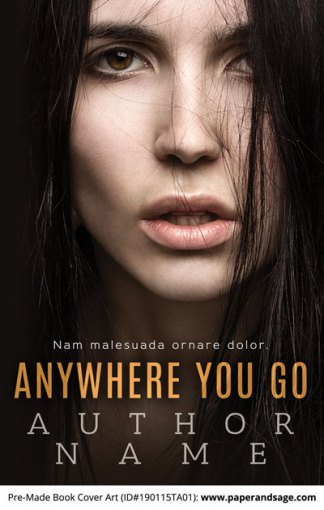 Pre-Made Book Cover ID#190115TA01 (Anywhere You Go)