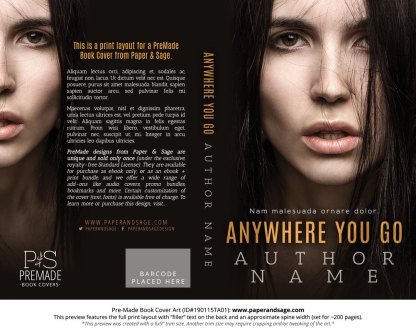 Print layout for Pre-Made Book Cover ID#190115TA01 (Anywhere You Go)