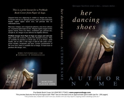 Print layout for Pre-Made Book Cover ID#190117TA01 (Her Dancing Shoes)