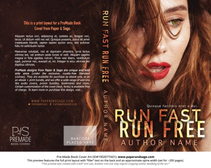 Print layout for Pre-Made Book Cover ID#190207TA01 (Run Fast Run Free)