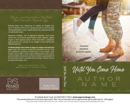 Print layout for Pre-Made Book Cover ID#190211TA01 (Until You Come Home)