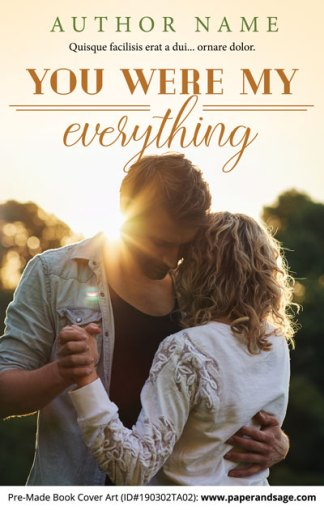 Pre-Made Book Cover ID#190302TA02 (You Were My Everything)