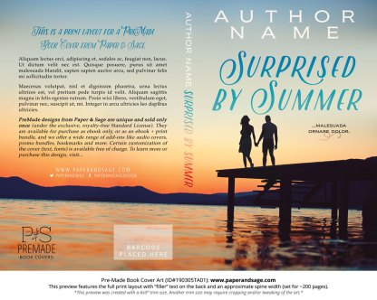 Print layout for Pre-Made Book Cover ID#190305TA01 (Surprised by Summer)