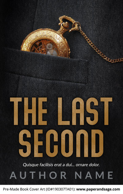 Pre-Made Book Cover ID#190307TA01 (The Last Second)