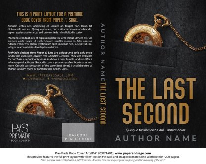 Print layout for Pre-Made Book Cover ID#190307TA01 (The Last Second)