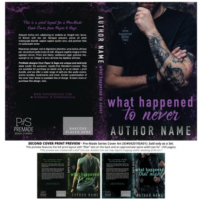 Print layout for PreMade Series Covers ID#042019SA01 (What Happened, Only Sold as a Set)