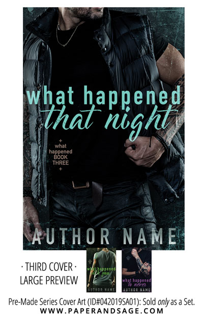 PreMade Series Covers ID#042019SA01 (What Happened, Only Sold as a Set)