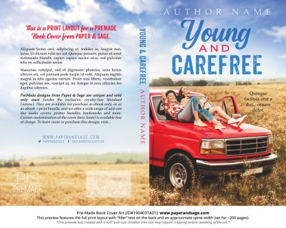 Print layout for Pre-Made Book Cover ID#190403TA01 (Young and Carefree)