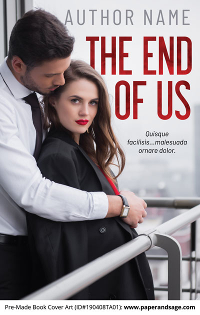 Pre-Made Book Cover ID#190408TA01 (The End of Us)