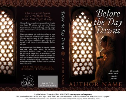 Pre-Made Book Cover ID#190510TA02 (Before the Day Dawns)