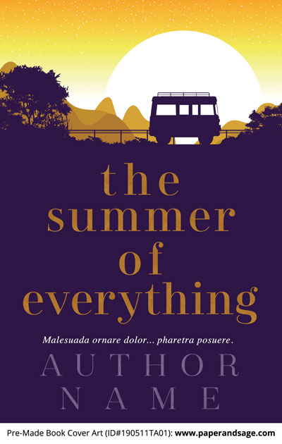 Pre-Made Book Cover ID#190511TA01 (The Summer of Everything)