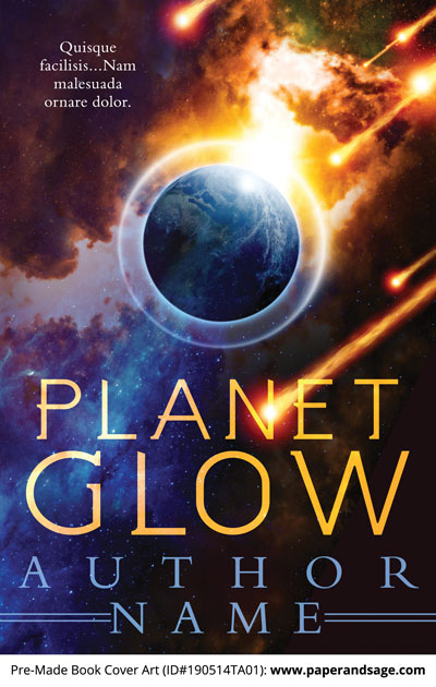Pre-Made Book Cover ID#190514TA01 (Planet Glow)
