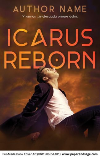 Pre-Made Book Cover ID#190605TA01 (Icarus Reborn)