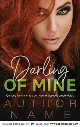 Pre-Made Book Cover ID#190606TA02 (Darling of Mine)